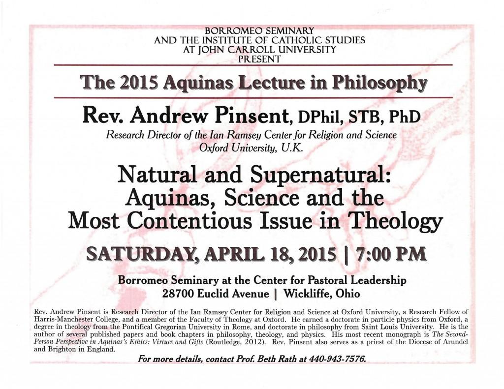 Aquinas Lecture 2015